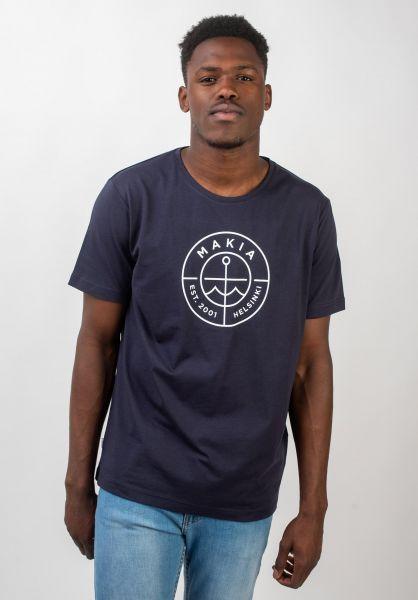 Makia T-Shirts Scope darkblue vorderansicht 0320692