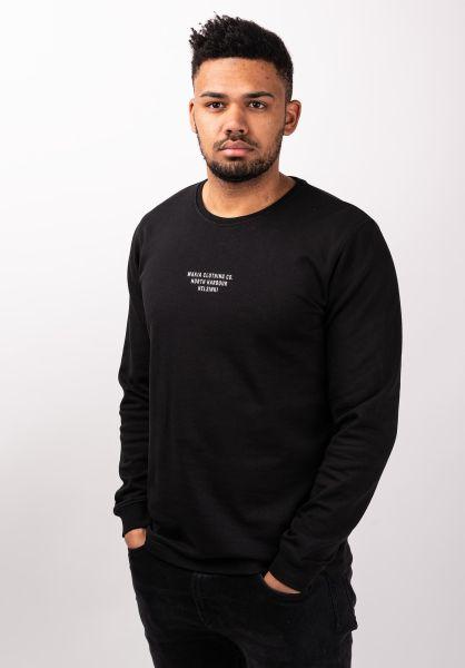 Makia Sweatshirts und Pullover Rows Light black vorderansicht 0422692