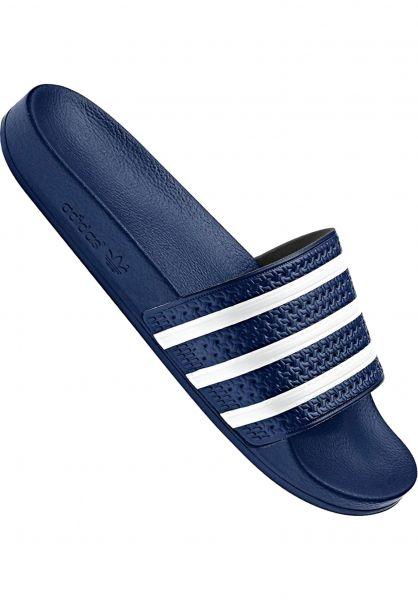 adidas Sandalen Adilette navy-white vorderansicht 0620177