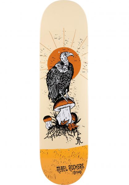 Rebel Rockers Skateboard Decks Vulture yellow vorderansicht 0261209