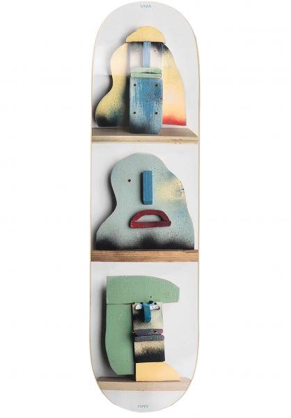UMA Landsleds Skateboard Decks Blocks lightgrey vorderansicht 0267197