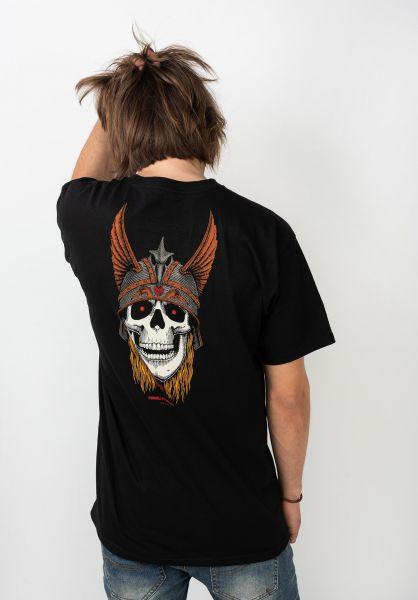 Powell-Peralta T-Shirts Andy Anderson Skull black vorderansicht 0321018