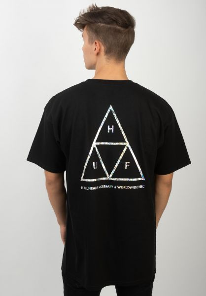 HUF T-Shirts Hologram black vorderansicht 0320751