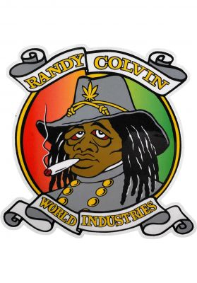 "Prime Randy Colvin Rasta Rebel World Industries 3.1"" Sticker"