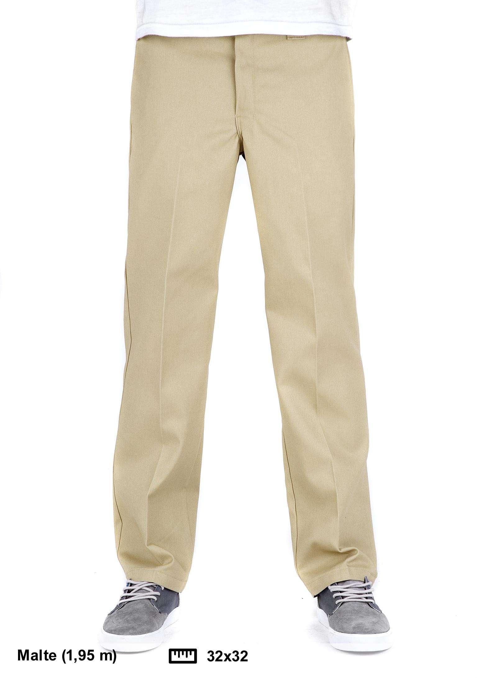 Slim Straight Dickies Work Pant WP873 Dickies Pantalons chino et pantalons  en toile en khaki pour Homme   Titus d2a1c3b57238