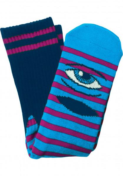 Toy-Machine Socken Sect Eye Stripe navy-purple Vorderansicht