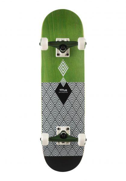TITUS Skateboard komplett Rhombus Horizo Premium Mini green-darkolive vorderansicht 0161472