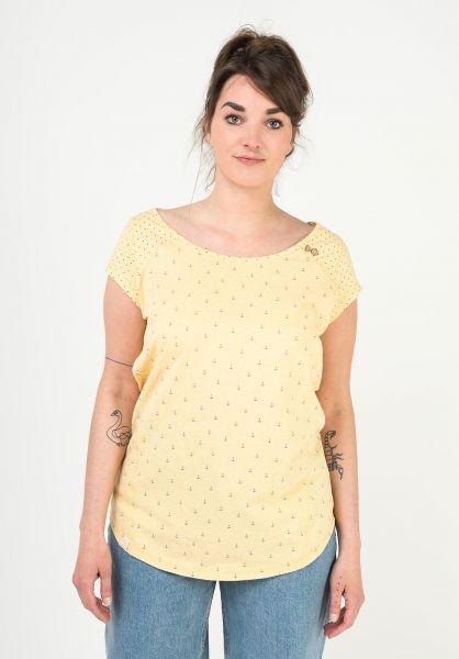 Ragwear T-Shirts Rosanna yellow 121 vorderansicht 0399356