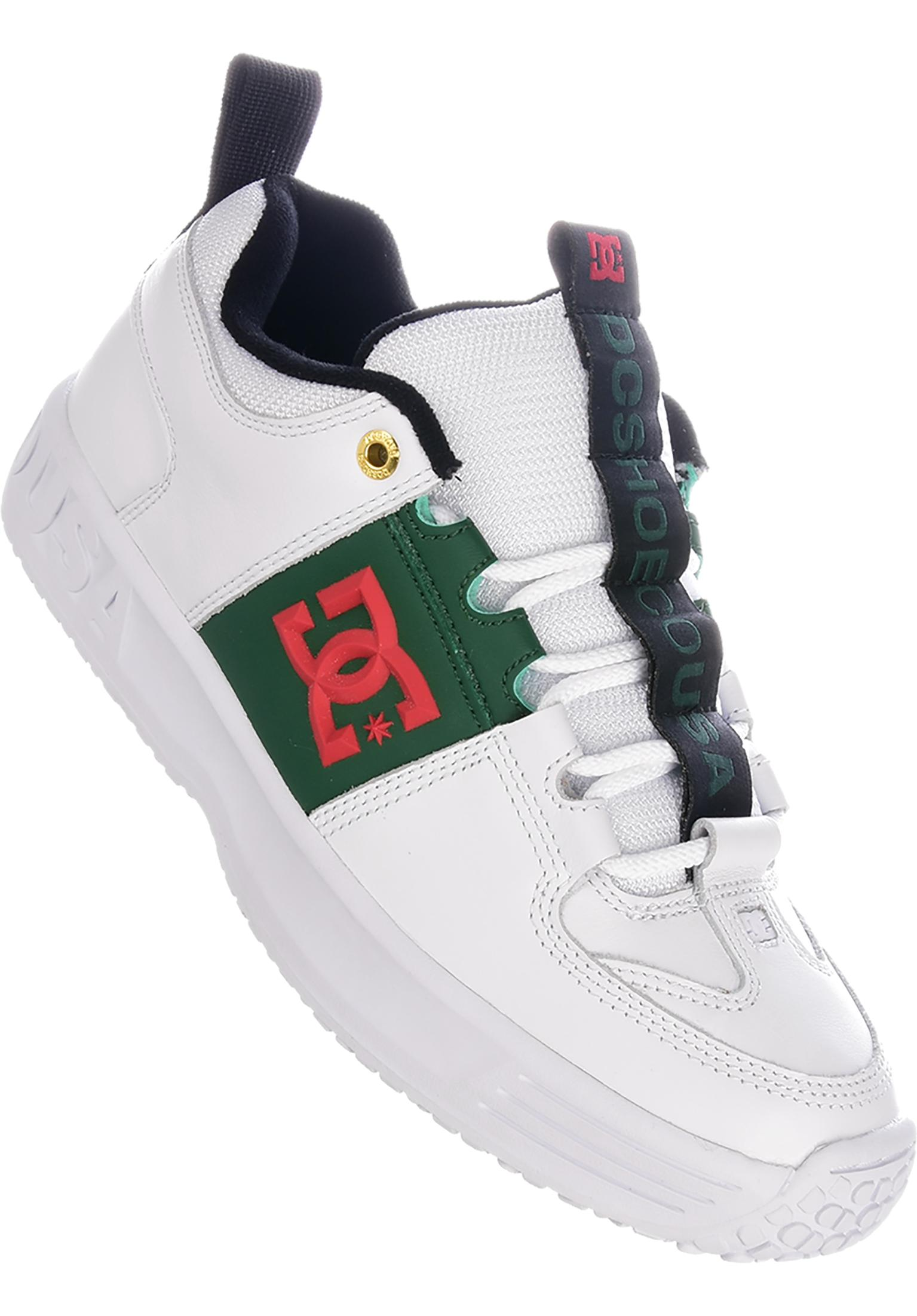 7b8eea0b3335 DC Shoes Alle Schuhe Kalis Lite grey white green vorderansicht 0603876  Source · Lynx OG DC Shoes All Shoes in white green navy for Men Titus