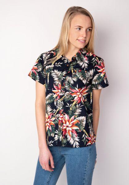 TITUS Hemden kurzarm Palm Leaf AO Girls navy-pattern vorderansicht 0400833