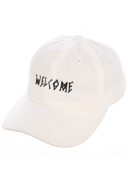 Welcome Caps Scrawl Peached Twill Dad Hat white-black vorderansicht 0565870