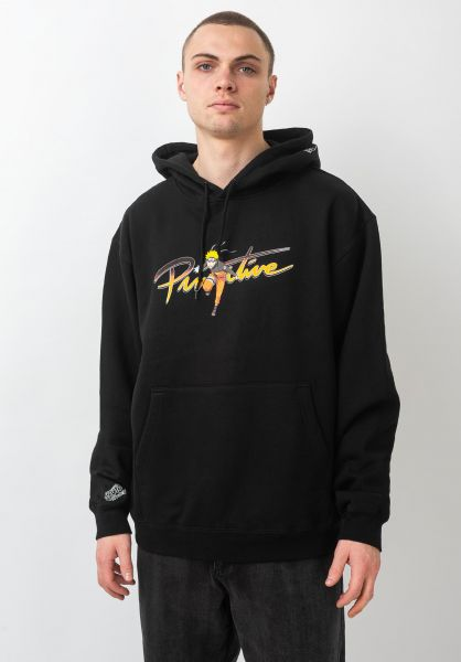 Primitive Skateboards Hoodies x Naruto Nuevo black vorderansicht 0445643