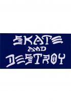 Thrasher-Verschiedenes-Skate-Destroy-Sticker-Large-blue-Vorderansicht