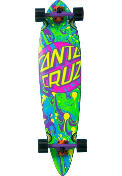Santa-Cruz Longboards komplett Spill Dot Pintail blue-purple vorderansicht 0194252