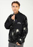welcome-sweatshirts-und-pullover-shatter-full-zip-printed-sherpa-fleece-black-vorderansicht-0423218