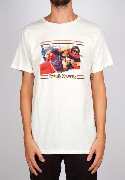 Dedicated T-Shirts Stockholm Winter Sports offwhite vorderansicht 0399380