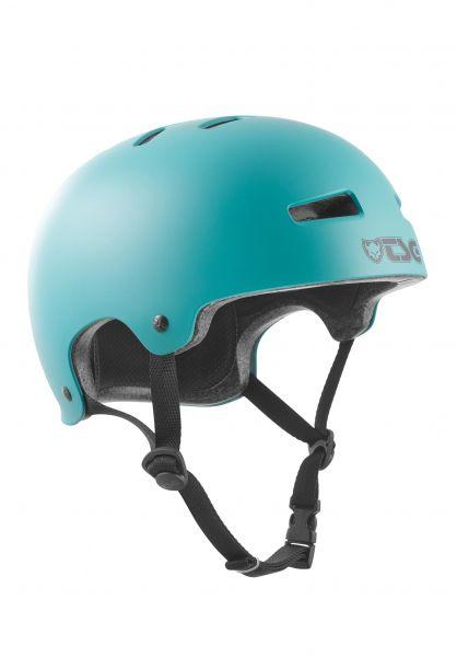 TSG Helme Evolution Solid Colors satin cauma green vorderansicht 0075046