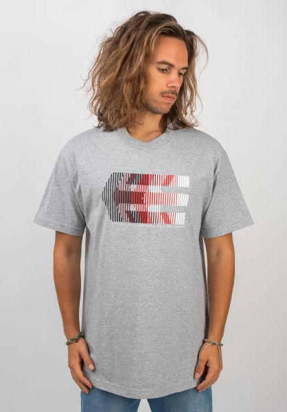 etnies T-Shirts After Burn greyheather vorderansicht 0320610