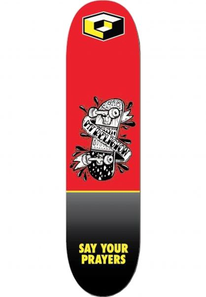 Consolidated Skateboard Decks Religion red-black vorderansicht 0262928
