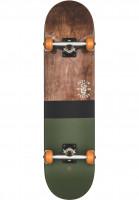 Globe-Skateboard-komplett-Half-Dip-2-darkmaple-huntergreen-Vorderansicht