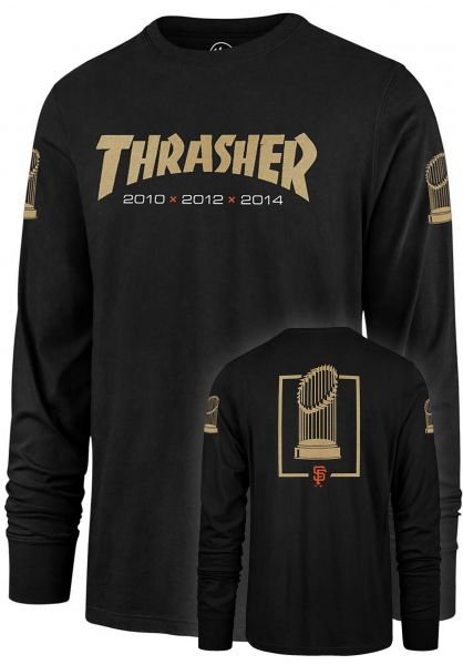 Thrasher Longsleeves x 47 Brand Rival black vorderansicht 0383159