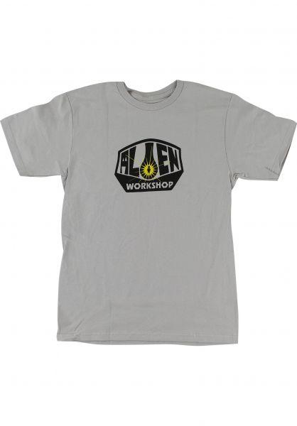 Alien-Workshop T-Shirts AWS OG Logo silver vorderansicht 0320998