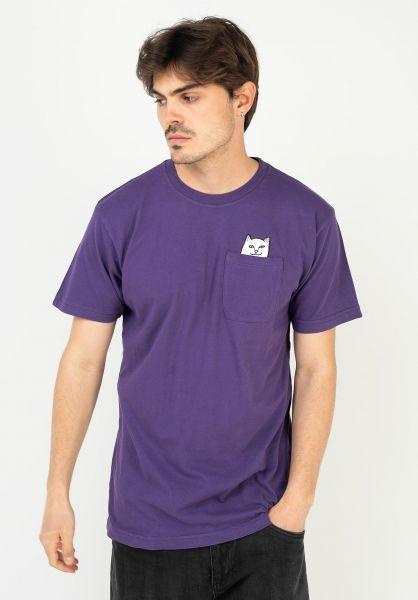 Rip N Dip T-Shirts Lord Nermal Pocket purple vorderansicht 0393476