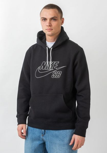 Nike SB Hoodies Embroidery black-summitwhite vorderansicht 0445675