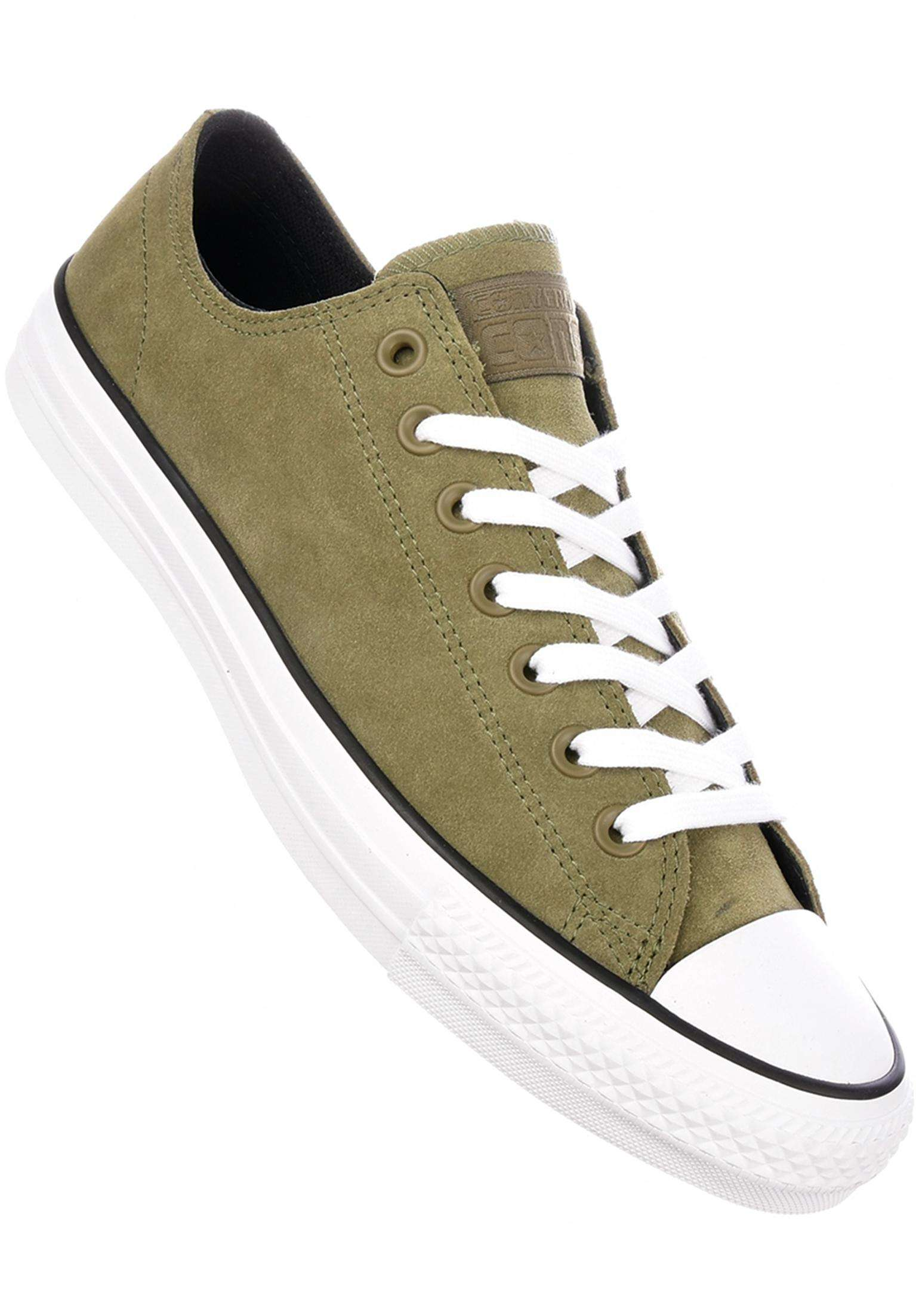 e02c9ee591e CTAS Pro Suede Ox Converse CONS All Shoes in mediumolive for Men
