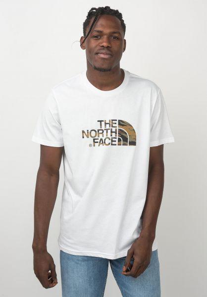 The North Face T-Shirts Easy white-britishkhaki-tigercamo vorderansicht 0320627