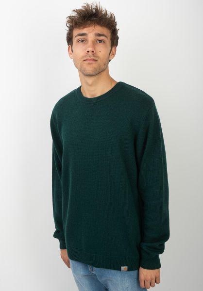 Carhartt WIP Strickpullover Allen Sweater darkfir vorderansicht 0144025