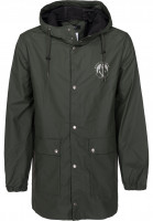 Makia-UEbergangsjacken-Harbour-Rain-Jacket-green-Vorderansicht