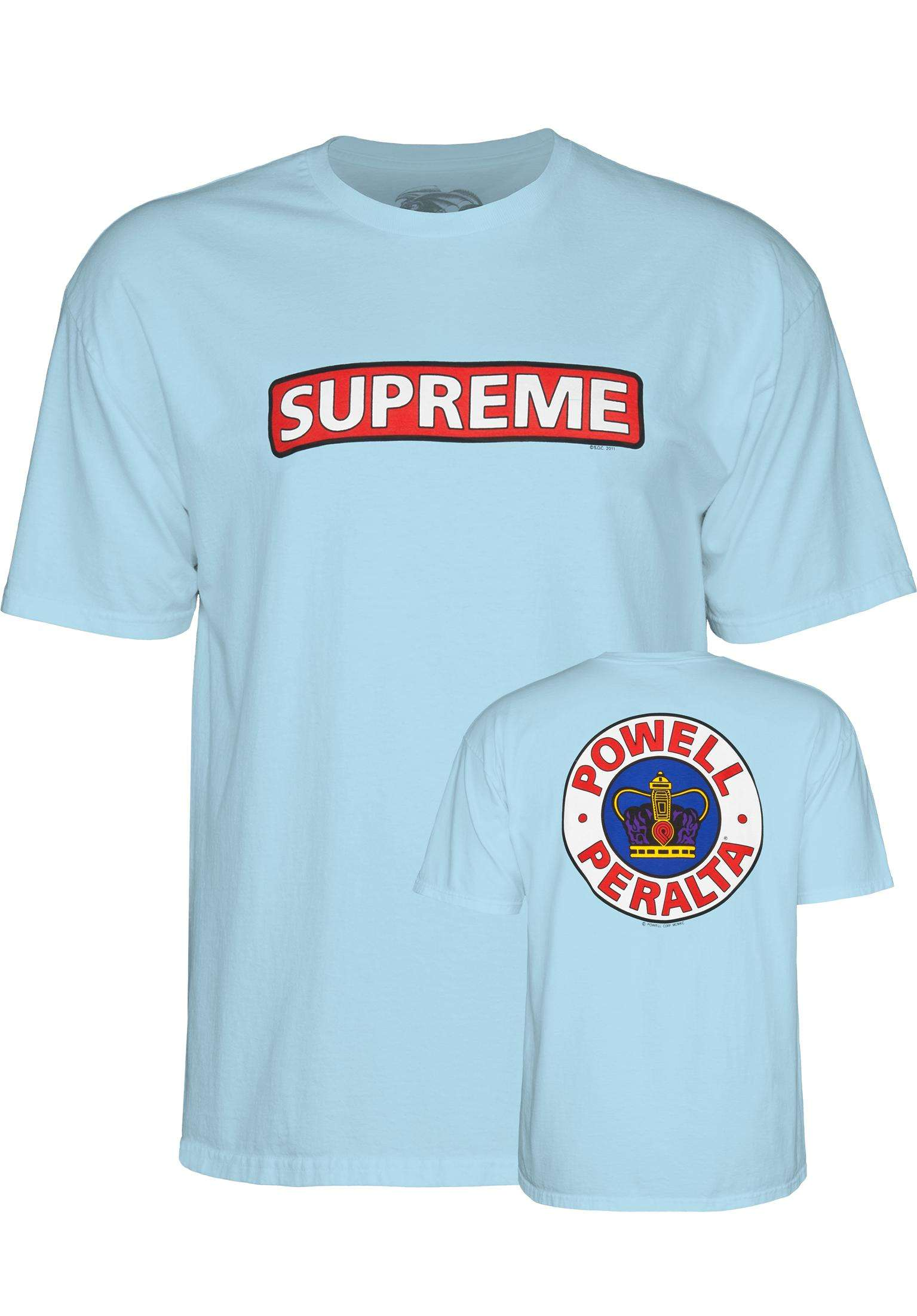 2f30ec24a737 Supreme Powell-Peralta T-Shirts in lightblue for Men