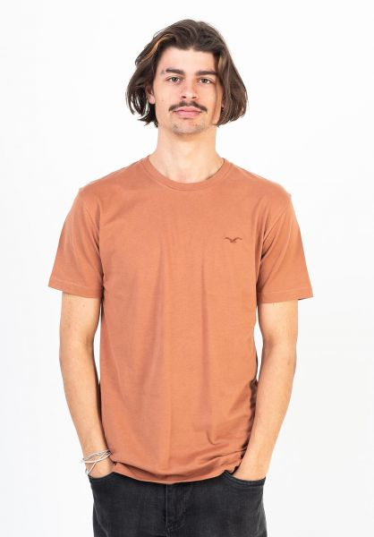 Cleptomanicx T-Shirts Ligull Regular caramelcafe vorderansicht 0322986