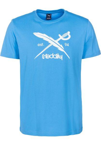 iriedaily T-Shirts Daily Flag azure vorderansicht 0391517