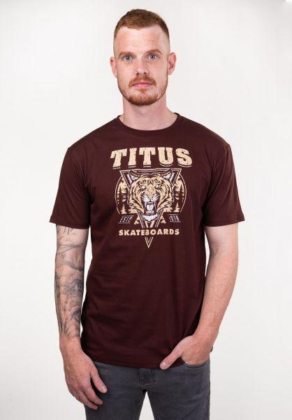TITUS T-Shirts Tiger deepburgundy vorderansicht 0397372