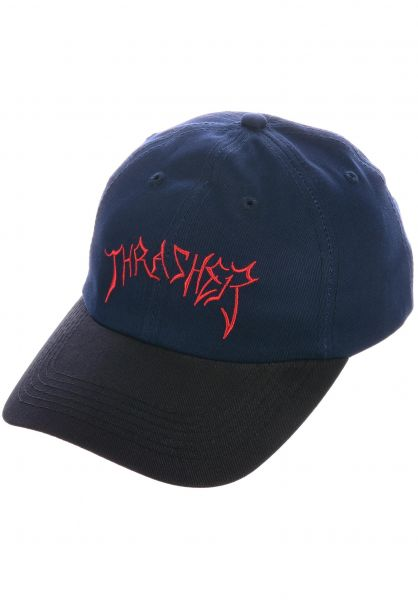 Thrasher Caps Lotties Old Timer Hat navy-black vorderansicht 0566443