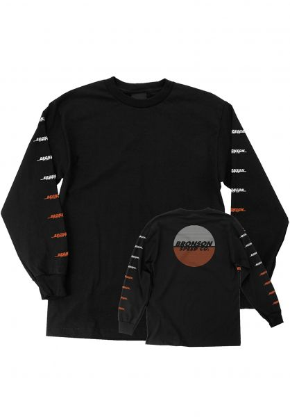 Bronson Speed Co. Longsleeves BSC Lines black vorderansicht 0383612