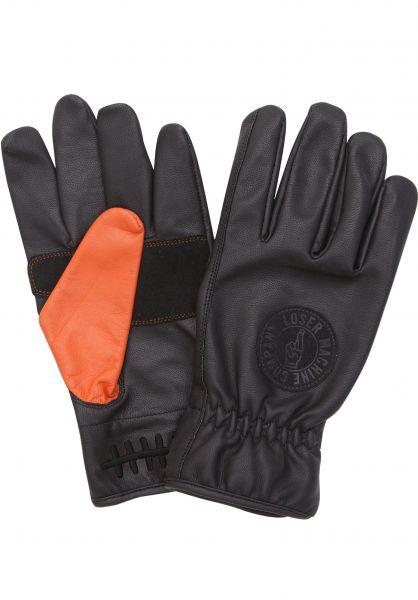 Loser-Machine Handschuhe Deathgrip black-orange vorderansicht 0117052