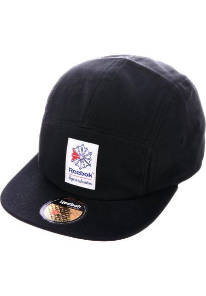 Reebok Caps CL FO 5 PANEL CAP black vorderansicht 0566022 de4fa91596e