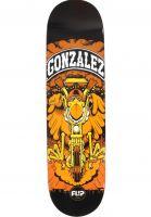 Flip-Skateboard-Decks-Gonzalez-Comix-black-Vorderansicht
