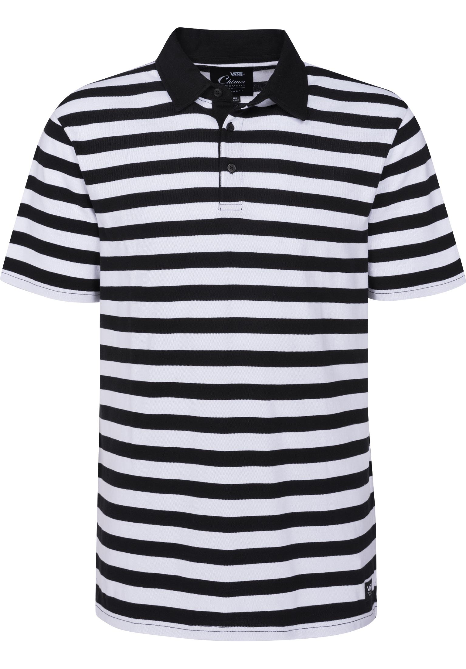 227c70ff92 Chima Striped Polo Vans Polo Shirts in black-white for Men