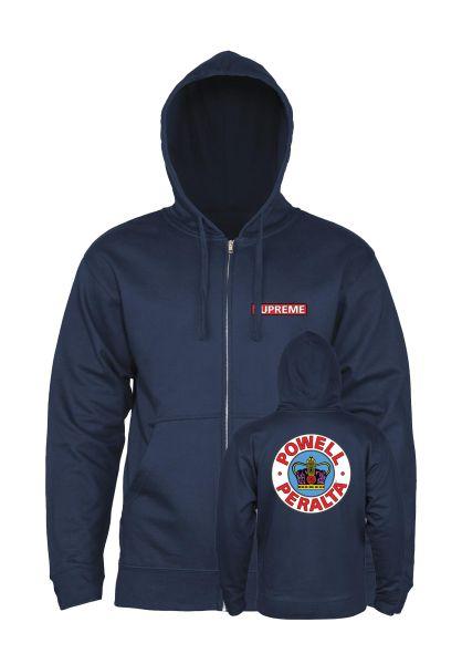Powell-Peralta Zip-Hoodies Supreme navy vorderansicht 0454334