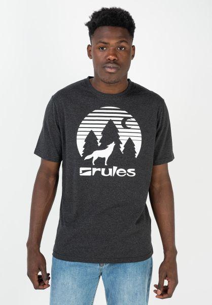 Rules T-Shirts Lone Wolf darkgreymottled-white vorderansicht 0399282