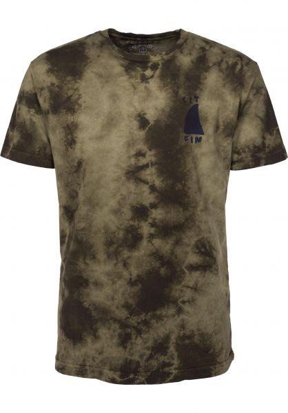 Captain Fin T-Shirts Sharky olive-tiedye Vorderansicht