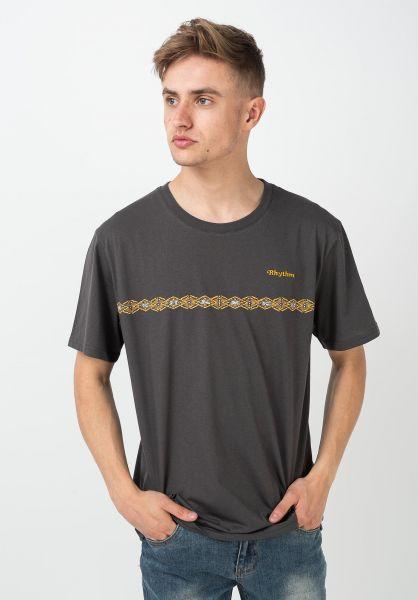 Rhythm T-Shirts Congo Stripe charcoal vorderansicht 0322244