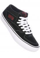 Vans-Alle-Schuhe-Half-Cab-Pro-black-white-red-Vorderansicht