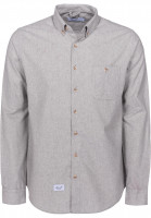 Reell-Hemden-langarm-Brushed-Shirt-grey-Vorderansicht