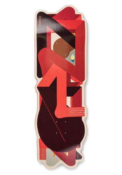 UMA Landsleds Skateboard Decks Colman Crazy Custom Shape red vorderansicht 0267189
