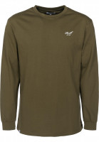 Reell Longsleeves Universe Logo olive Vorderansicht